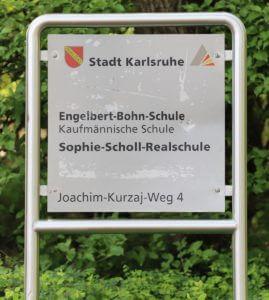 Schild Sophie-Scholl-Realschule