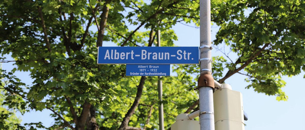 Straßenschild Albert-Braun-Straße