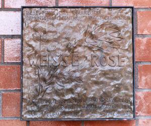 Bronzetafel Weiße Rose
